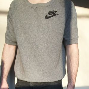 Nike 80s Style Scoop Neck Short Sleeve Sweatshirt